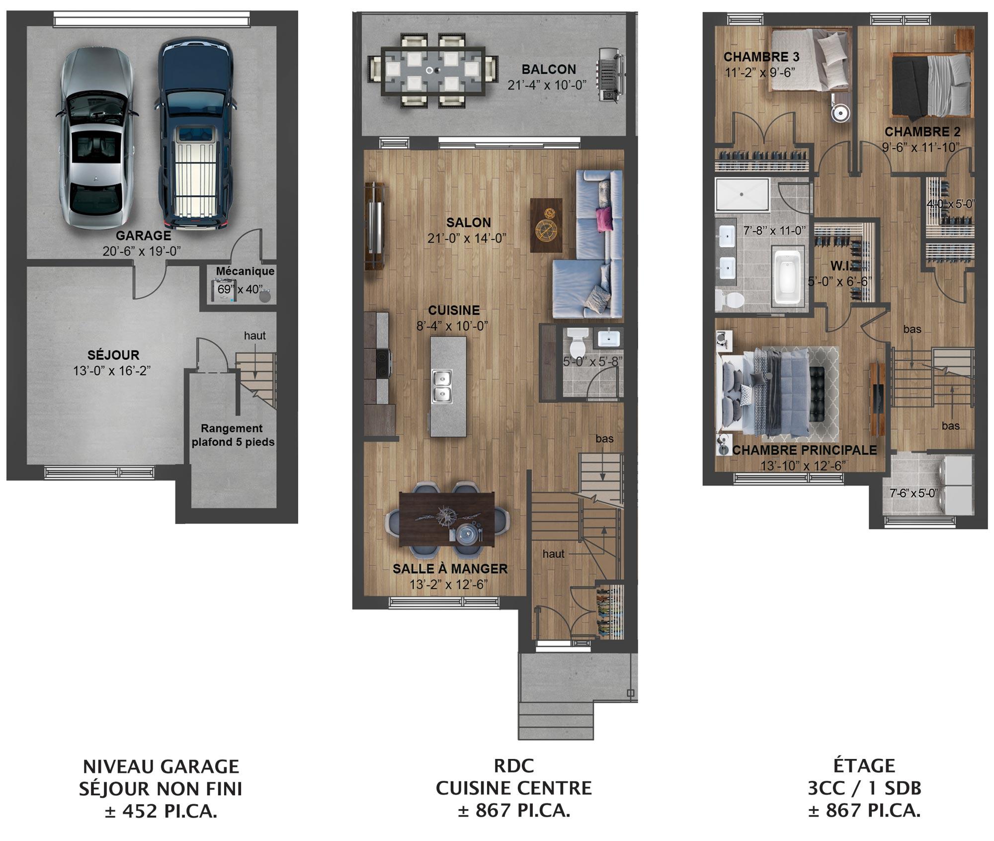 Plan centre droit – Kaia Maisons de ville