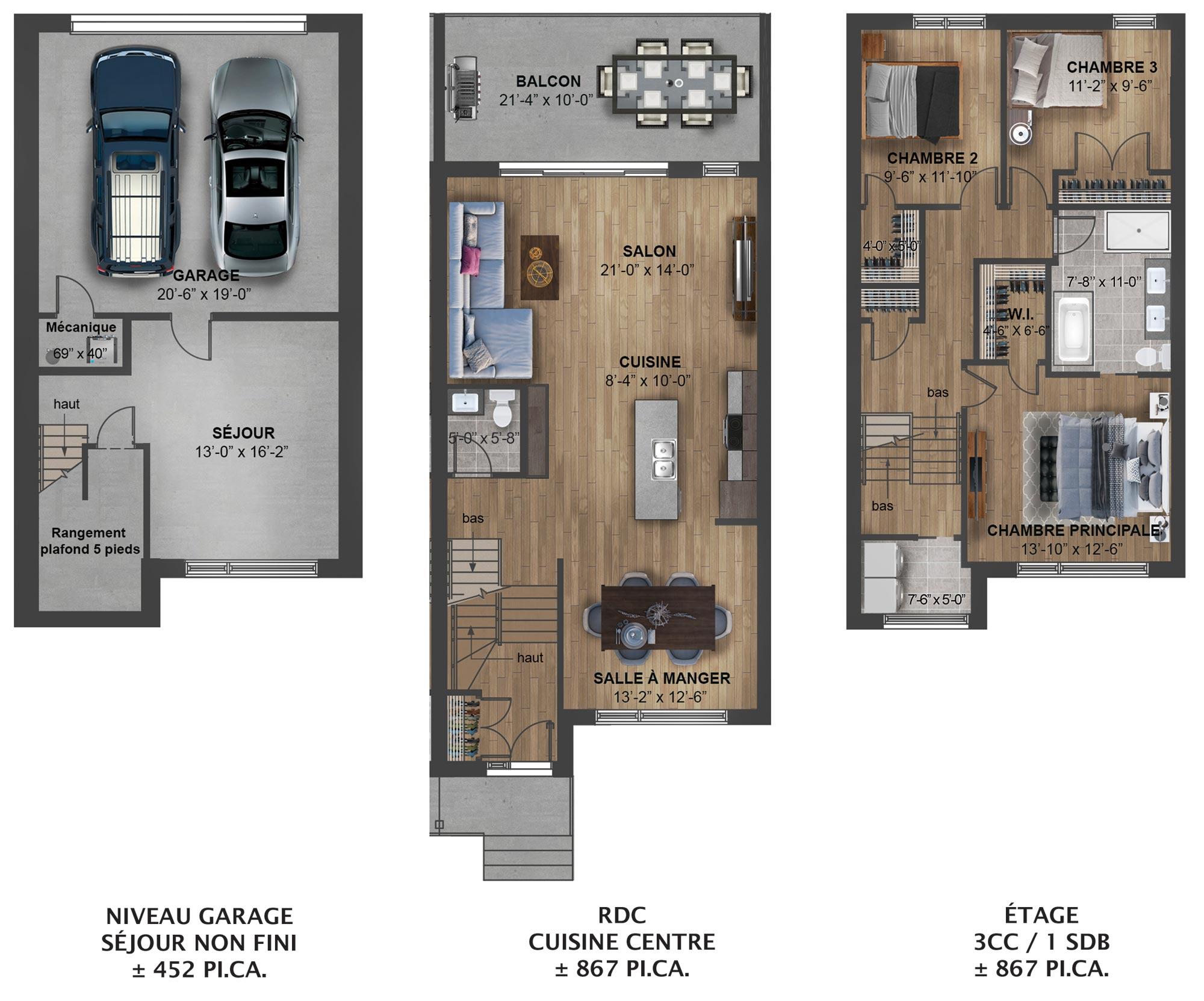 Plan centre gauche – Kaia Maisons de ville